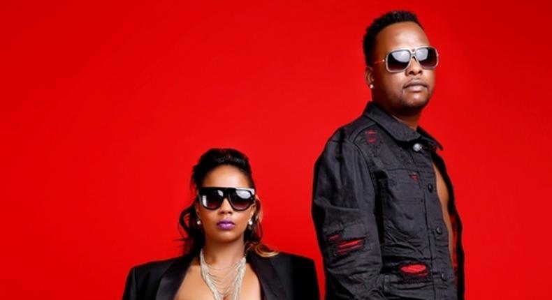 Chokoza singer Marya with her husband Kevin during a pregnancy photoshoot