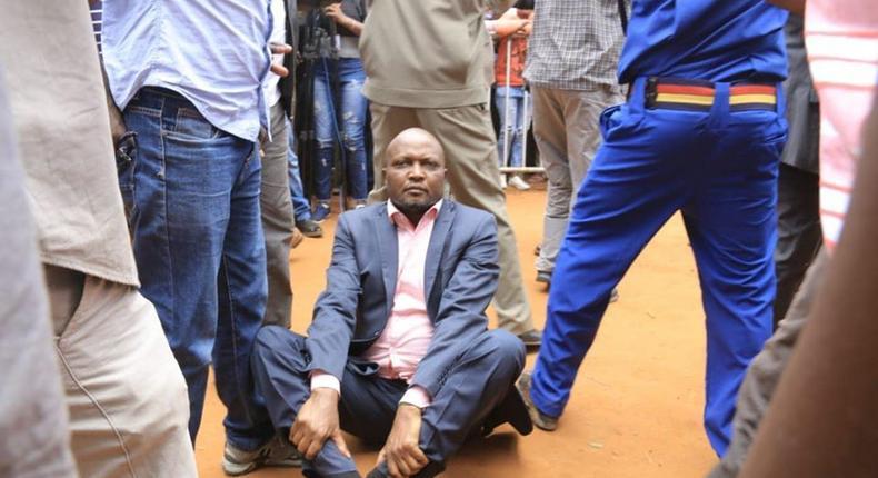 Moses Kuria at the BBI rally in Kitui