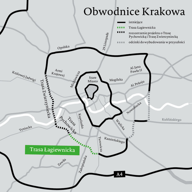 Obwodnica Krakowa Trasa Łagiewnicka