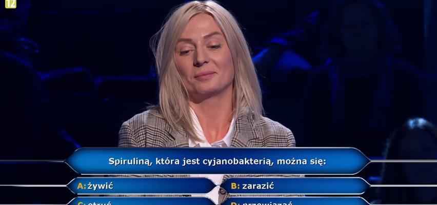 """""""Milionerzy"""". Literaturoznawczyni z Łodzi odpadła na pytaniu o spirulinę!"""