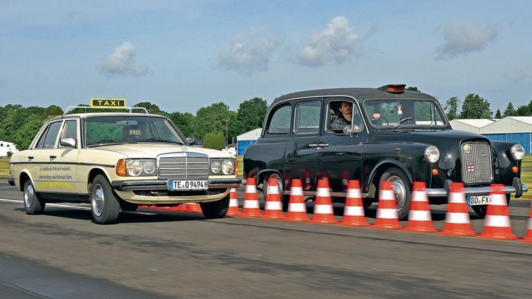Mercedes W123 kontra Austin FX4Q - która taksówka jest lepsza?