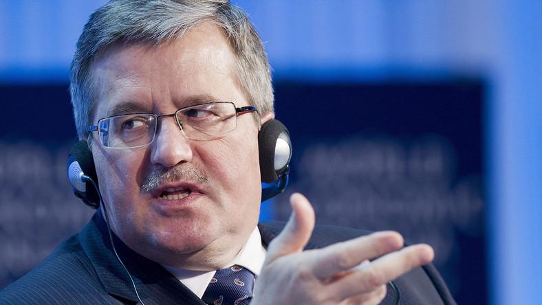 Prezydent Bronisław Komorowski na szczycie w Davos