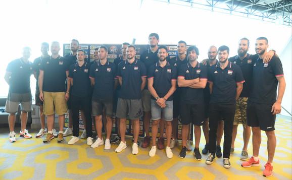 Košarkaška reprezentacija Srbije na okupljanju povodom početka priprema za Svetsko prvenstvo