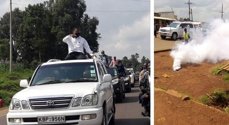 Bungoma Senator Moses Wetangula teargassed after attempting to hold rally in Bungoma town amid Covid19 crisis
