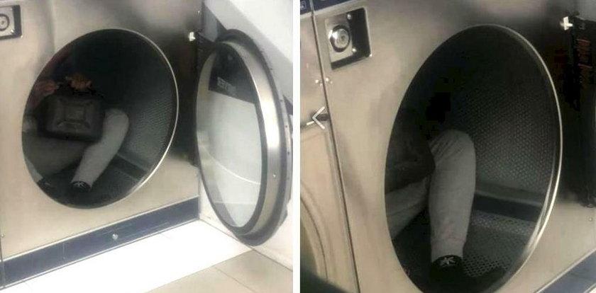Scena jak z horroru! Zajrzała do pralki, a tam...