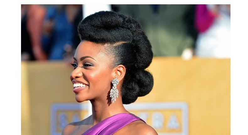 Natural hair can be done in different styles