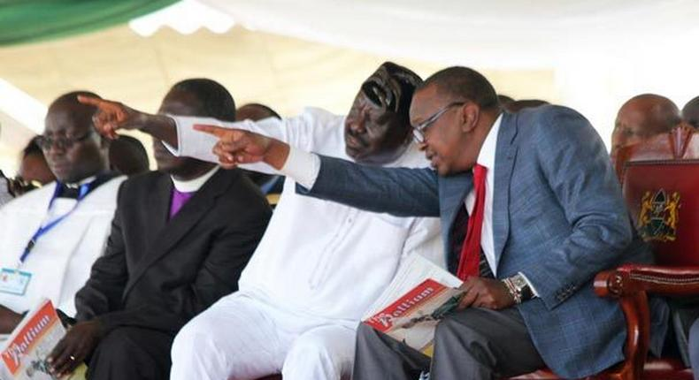 File Image of ODM leader Raila Odinga and president Uhuru Kenyatta