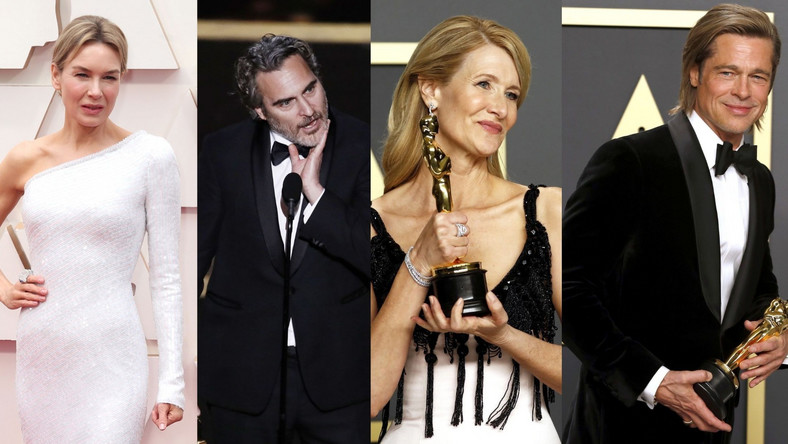 Renee Zellweger, Joaquin Phoenix, Laura Dern i Brad Pitt