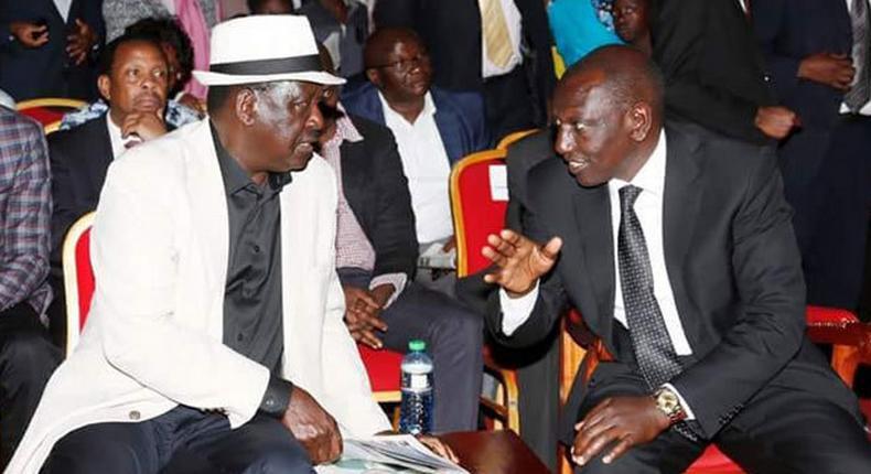 DP William Ruto and Opposition leader Raila Odinga