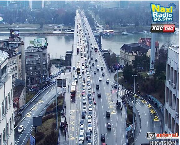 Gužva na Brankovom mostu