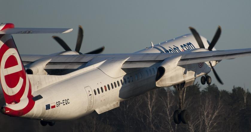 Jednym z typów samolotów na trasie Warszawa-Berlin będzie Bombardier Q400