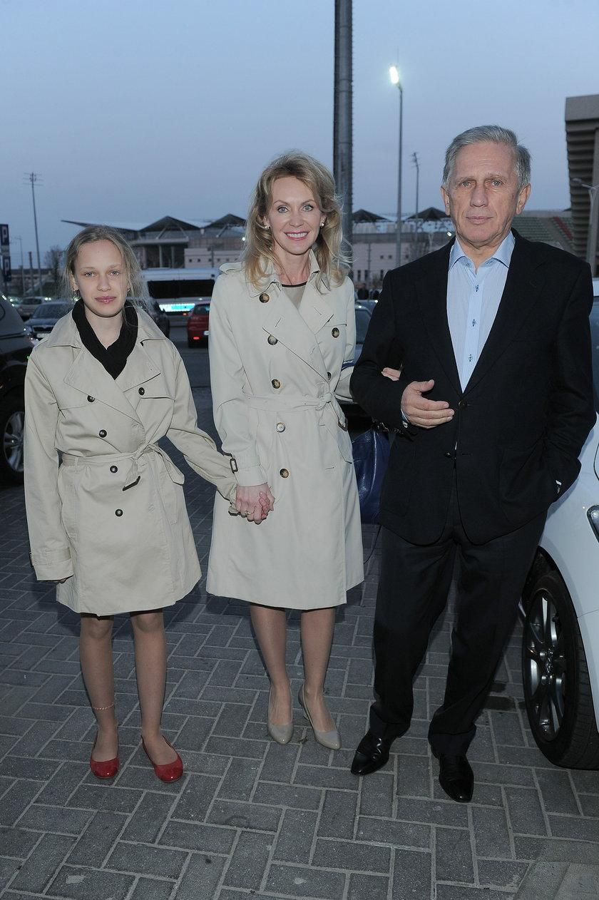 Jan Englert z rodziną