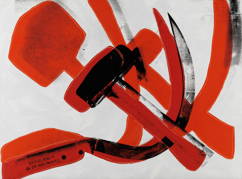 "Andy Warhol - ""Hammer and Sickle"" (1976)"
