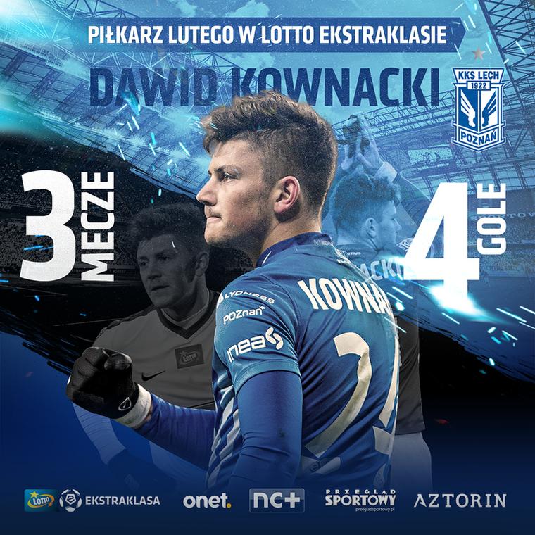 Dawid Kownacki piłkarzem lutego w LOTTO Ekstraklasie