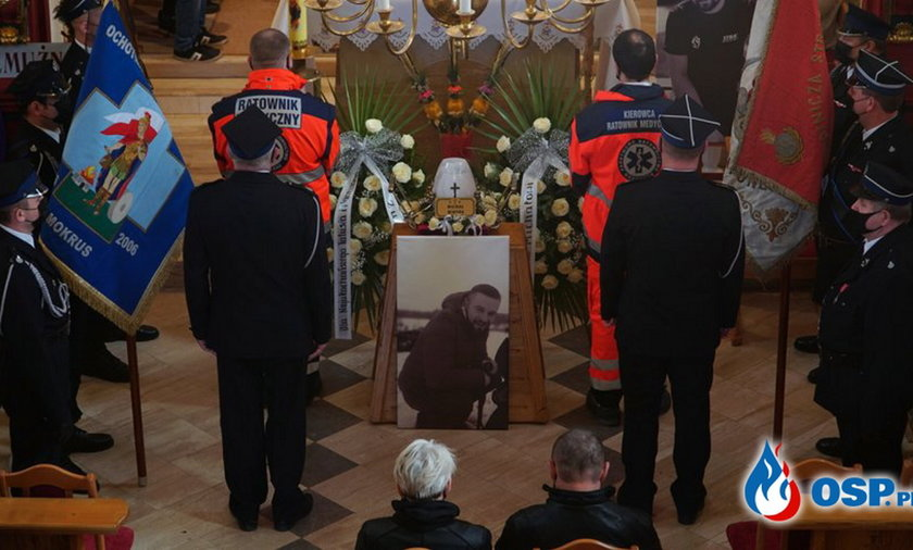 Pogrzeb 28-letniego strażaka i ratownika Michała Mikody.