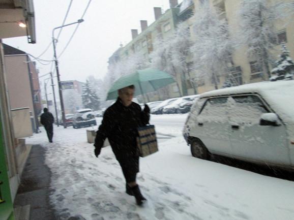 Sneg u Loznici