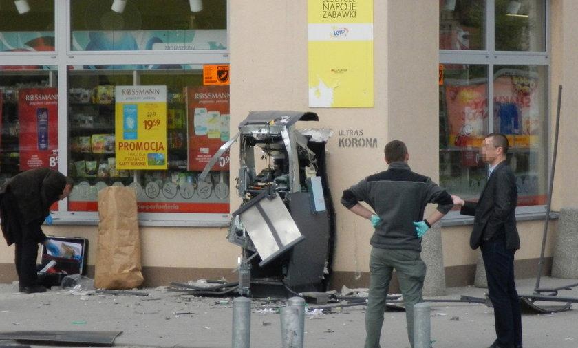 Wysadzili bankomat w Kielcach
