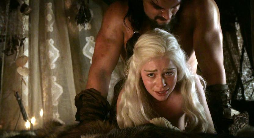 Drogo and Daenerys violent sex scene in 'Game of Thrones'