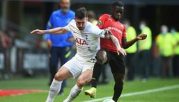 Pierre-Emile Hojbjerg (L) scored to earn Tottenham a 2-2 draw with Rennes Creator: JEAN-FRANCOIS MONIER