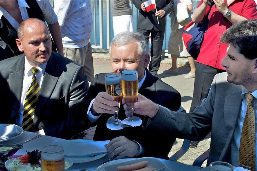 kaczyński jarosław, piwo, spotkanie