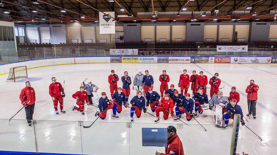 Trening reprezentacji Polski w hokeju na lodzie