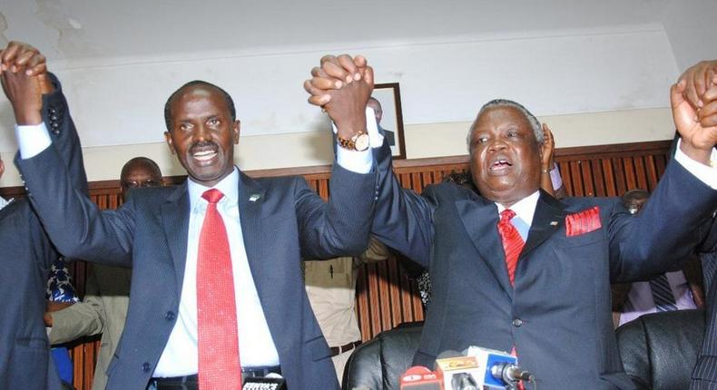 Wilson Sossion with Francis Atwoli
