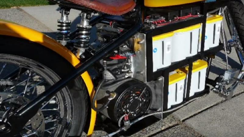 Bobber z napędem elektrycznym