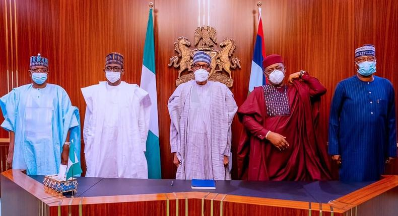 President Buhari receives new APC Member Femi Fani-Kayode at the State House on 16th Sep 2021  (Femi Adesina)