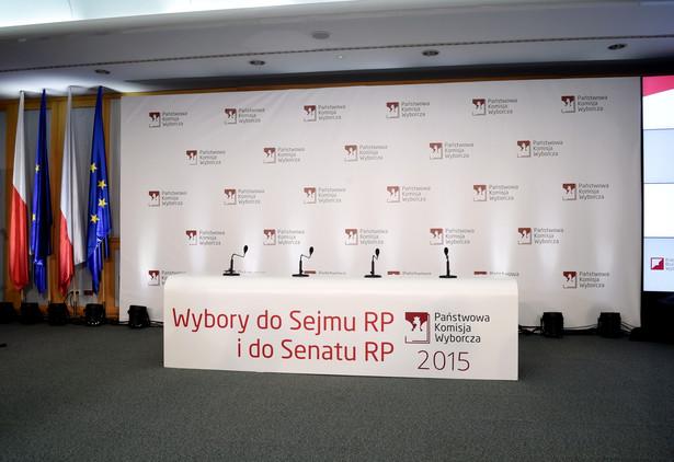Sala konferencyjna w Państwowej Komisji Wyborczej