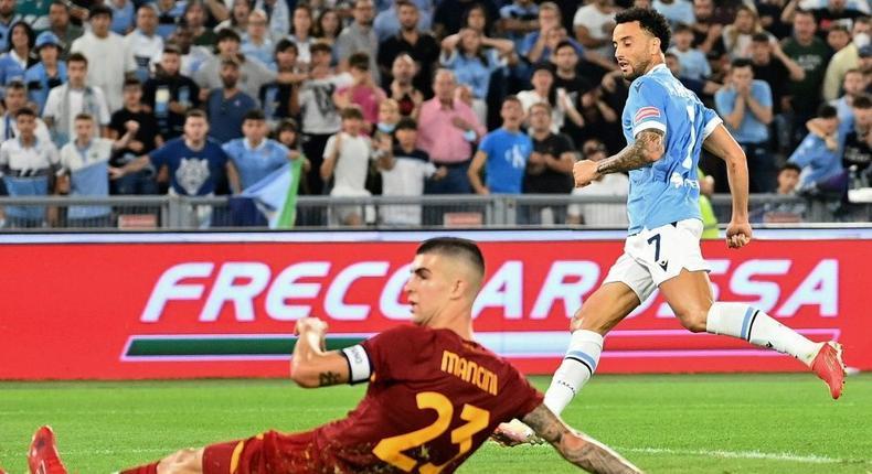 Felipe Anderson scored the decisive goal for Lazio in the Rome derby Creator: Vincenzo PINTO