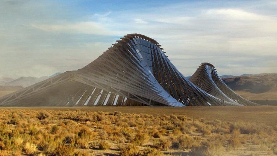 Góra solarna projektu biura Nudes