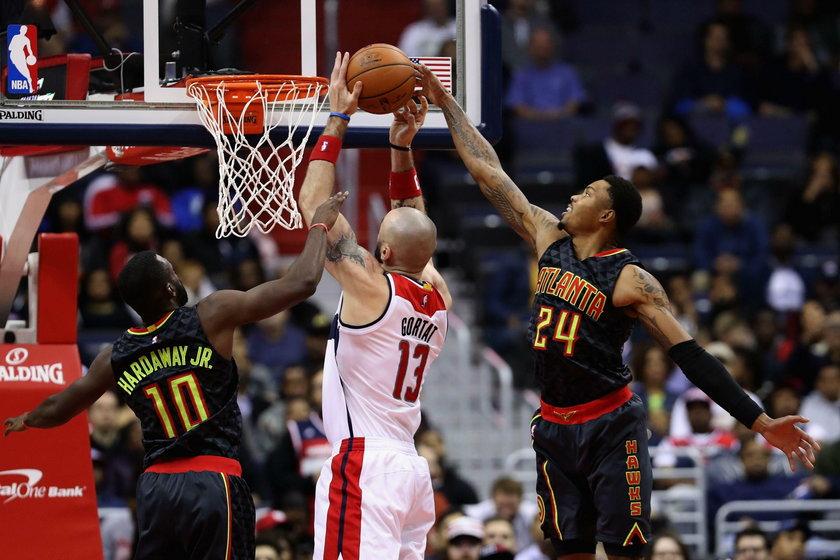 Marcin Gortat i jego Washington Wizards pokonali Atlanta Hawks 95:92