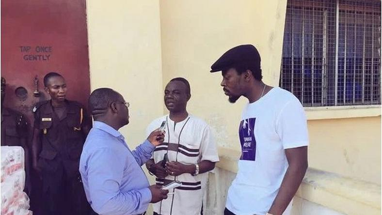 Kwaw Kese and some officials of HO prison