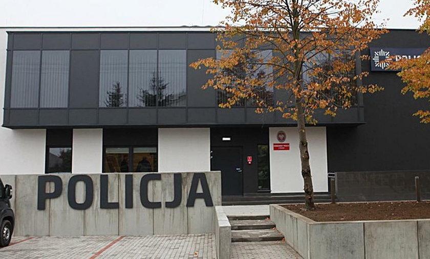 Wybuch bomby na komisariacie w Kłodawie