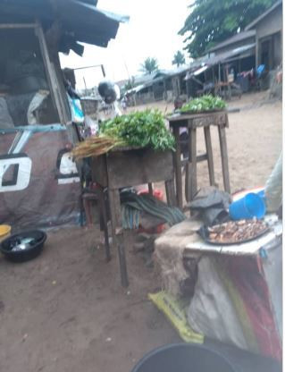 Mrs Ajala's wares displayed at the front of her house (Pulse)