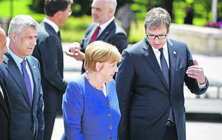 Angela Merkel Aleksandar Vučić Hašim Tači