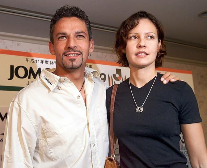 Roberto Bađo sa suprugom 1999. godine
