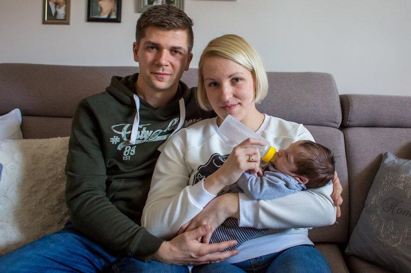 Rodzina w komplecie: Lukasz, Sandra i Wojtuś Portasiakowie