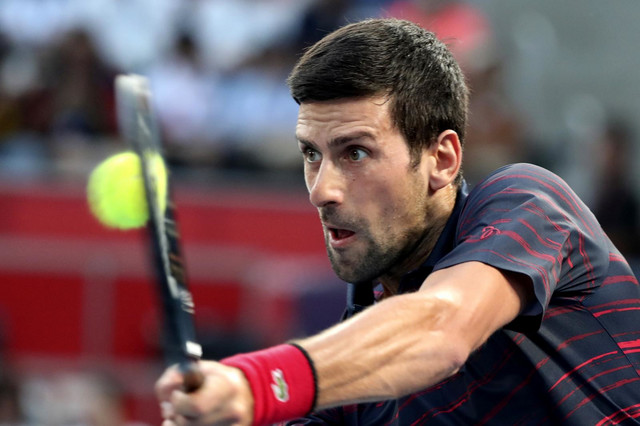 Novak Đoković na meču protiv Soede