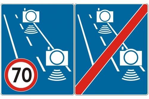 Odcinkowy pomiar prędkości - nowe znaki pojawią się przy drogach