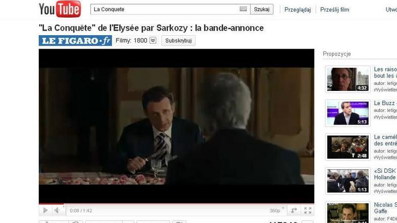 Salwy śmiechu na pokazie filmu o Sarkozym w Cannes