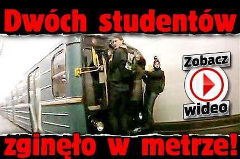 Dwóch studentów zginęło w metrze! FILM