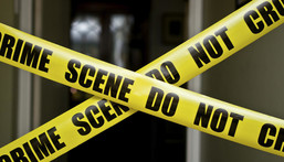File image of a barricaded crime scene