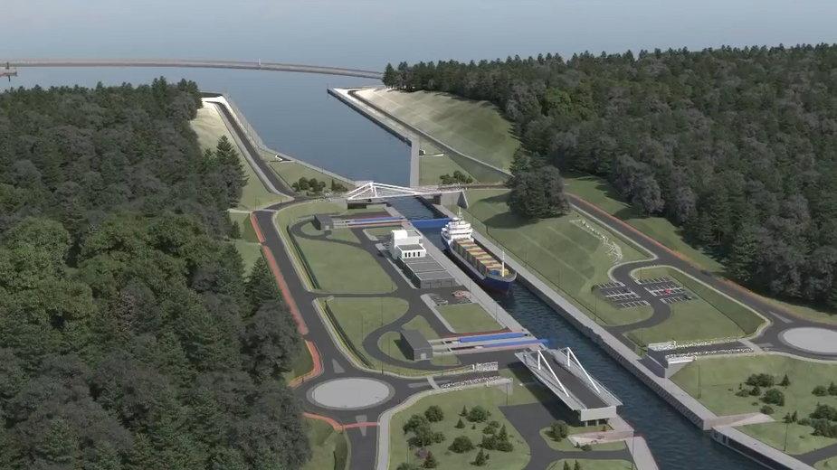 Otwarcie mostu nad przekopem Mierzei Wiślanej w czerwcu 2021