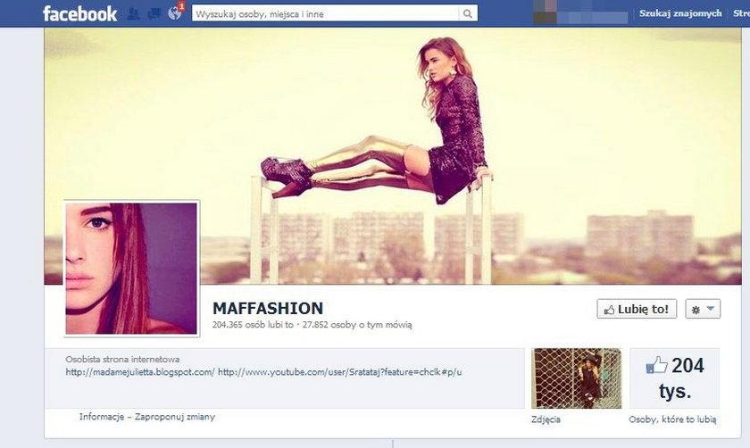 Profil Maffashion na facebooku