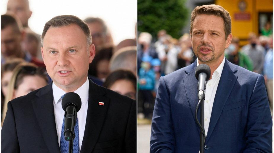 Andrzej Duda i Rafał Trzaskowski - PAP