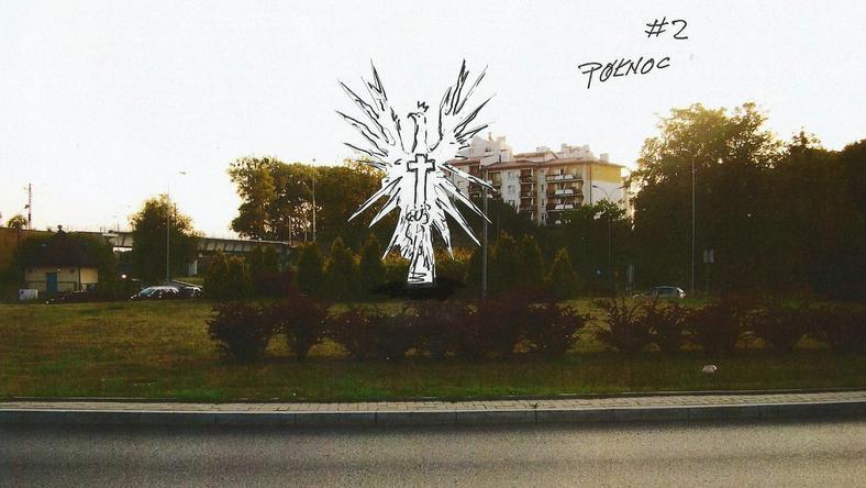 Projekt pomnika smoleńskiego w Olsztynie