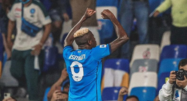 Victor Osimhen scored as Napoli continued their winning streak in the Serie A (Instagram/Victor Oismhen)
