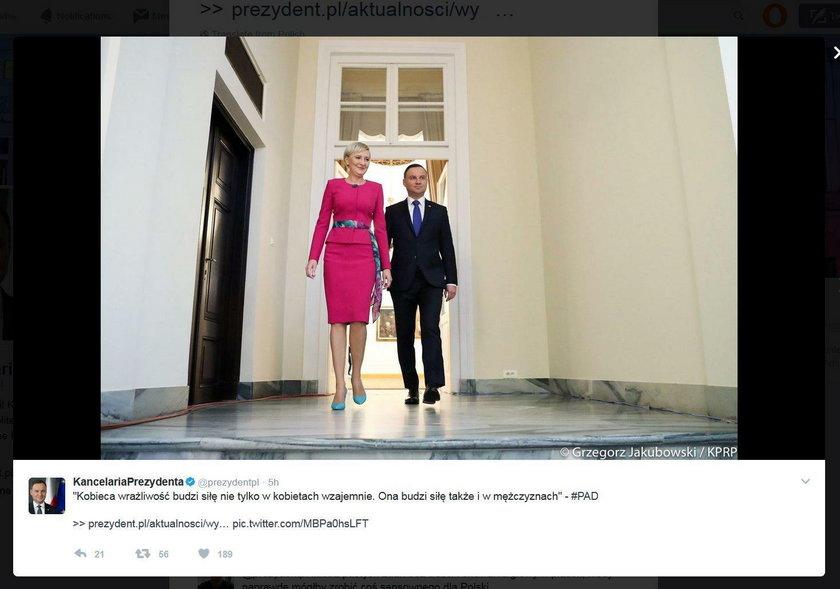 Wymowne zdjęcie pary prezydenckiej