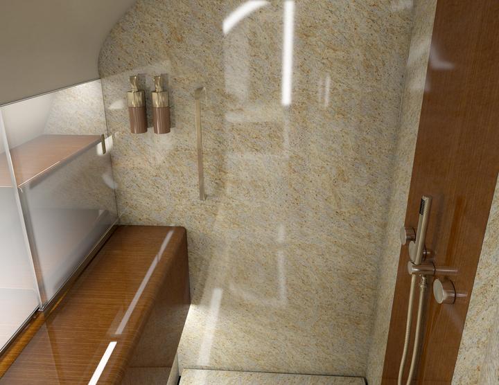 ... i łazienka z prysznicem.